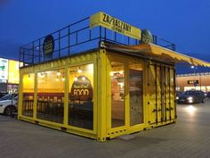 Container Coffee Shop, Container Shop, Storage Container Homes, Cargo Container, Container Design, Shipping Container Restaurant, Shipping Container Homes, 3d Printed House, Shipping Container Conversions