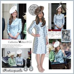 13.06.15 Trooping the Colour-Duchess of Cambridge by indicupcake on Polyvore featuring Catherine Walker and Lock & Co.