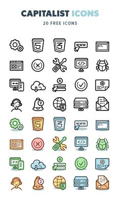 Today we have for you a set of Capitalist Free Icons Download. This set includes 20 icons available in 2 styles: colored flat and line version, designed on a 128px grid. Hope that these icons will be useful for your next projects! Don't hesitate to grab it for FREE right now!