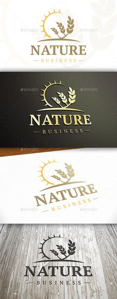 Wheat Sun Logo EPS Template • Download ➝ https://graphicriver.net/item/wheat-sun-logo/10325798?ref=pxcr