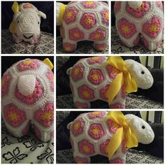 Ravelry: Project Gallery for Shoop the African Flower Sheep pattern by Heidi Bears