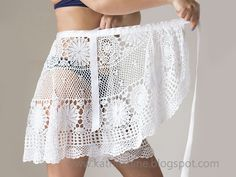 Katrinshine: Crochet skirt upcycled from vintage crochet tablecloth