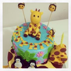 Giraffe and Penguin Cake Penguin Cakes, Product Catalogue, Giraffe, Nom Nom, Birthday Cake, Party, Desserts, Food, Tailgate Desserts