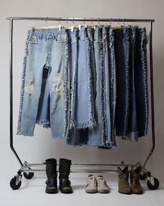 Levi's 501 Reworked Raw Edge Frayed Fringed Jeans