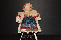 Vintage Czech Doll - Nice Costume. $20.00, via Etsy.