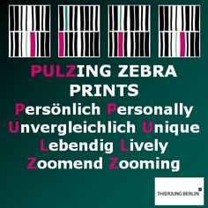 Pulzing Initiative Interested to learn more about your INDIVIDUAL PERSONALITY profile - unique as the pattern of a zebra coat. You are welcome. Pulzing Interesse an Ihrem individuellen Persoenlichkeitsprofil - einzigartig wie das Muster eines Zebra Fells. Wir freuen uns auf Sie. Pulzing www.thierjungberlin.com www.pulzing.com  #businessonline #intelligence #businessasusual #inspire