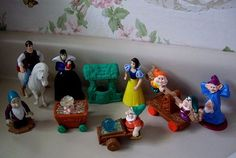 90's Disney Snow White and the Seven Dwarfs McDonalds Happy Meal toys. I forgot about these, even though I played with them all the time!