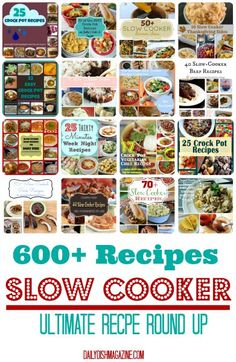 OVER 600 CROCK POT RECIPES!!  Ultimate Crock Pot Slow Cooker Recipe Round Up.    #slowcooker #crockpot #easyrecipes #reciperoundup