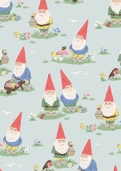 Garden Gnomes   Gnomes are a quirky feature of British gardens and add humour and character to ours this season. This fun novelty print features Cath hallmarks like mushrooms and mini flowers alongside our cheeky little gnomes   Cath Kidston SS16  