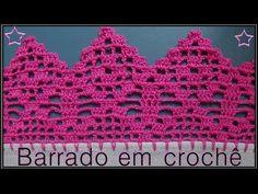 Barrado de Crochê Rositas - Aprendendo Croche - YouTube