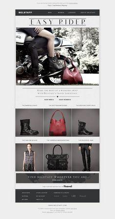 The website 'http://newsletter.belstaff.com/HM?a=D' courtesy of @Pinstamatic (http://pinstamatic.com)