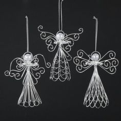 handmade wire angel halos not a tutorial, but I think I can use this as a pattern Wire Crafts, Jewelry Crafts, Christmas Crafts, Christmas Decorations, Wire Ornaments, Christmas Angel Ornaments, Hanging Ornaments, Wire Wrapped Jewelry, Wire Jewelry