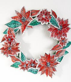 diy paper wreath #alisa_burke add a healthy dose of modge podge to hang it outside..or it could be hung inside at the windows