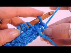 Tunisian Crochet: Reverse Stitch (Left Handed)