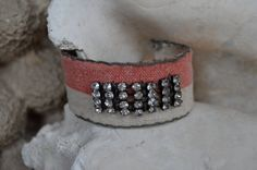Handmade Fabric over metal cuff by FragmentsEtc on Etsy, $38.00