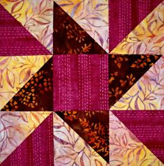 Curlicue Creations: Star Quilt Block of the Month Tutorial #8 - Spinning Pinwheel Star