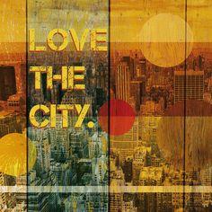 COOL CITY poster print // 12.2 x 12.2 // door SchildertuinDesign