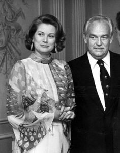 Princess Grace & Prince Rainier during Royal Family of Monaco Host a Party at Regency Hotel in New York City, New York, United States. July 7, 1976.