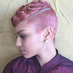 Funky Pink! styled by @salonchristol - http://community.blackhairinformation.com/hairstyle-gallery/short-haircuts/funky-pink-styled-by-salonchristol/
