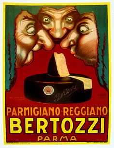 Global Gallery 'Bertozzi' by Luciano Achille Mauzan Vintage Advertisement on Wrapped Canvas Size: Vintage Advertising Posters, Vintage Advertisements, Vintage Posters, Vintage Art, Art Deco Movement, Parmigiano Reggiano, Wall Art For Sale, Vintage Italian, French Vintage