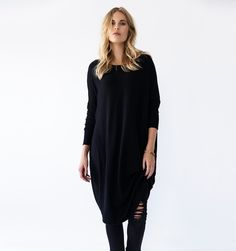 oversized sweater zwarte trui