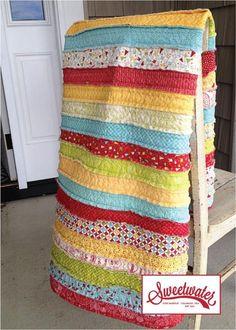 Jelly Roll Quilt - via @Craftsy
