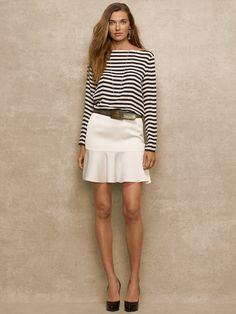 Madeline Striped Chiffon Top - Long-Sleeve  Shirts - RalphLauren.com