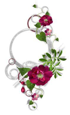 floral en rosa oscuro..
