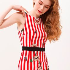 #summer #red #flowers #dress #trend #fashiondress #stripes #style #fashionlook