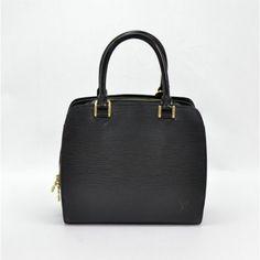 Louis Vuitton Black Epi Pont Neuf Bag Cheap Designer Bags, Online Bags, Louis Vuitton, Handbags, Accessories, Black, Totes, Louis Vuitton Wallet
