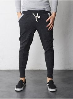 These are the 'sweat pants' to wear. Mens Another Dick Slim-Baggy Jersey Pants at Fabrixquare. Want!