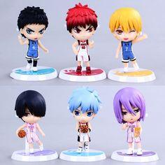 Cheapest Free Shipping 6pcs/set Japanese anime Kuroko no Basuke PVC Action Figure Collection Model Toy Kids Gifts