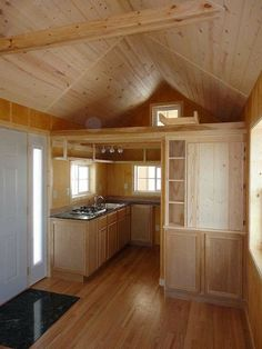 Tiny Cabin; my dream is to live in one of these with a wood stove...