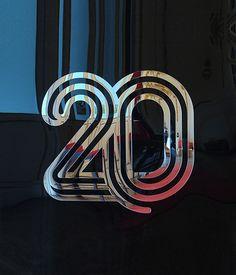 20 Years Identity by Pedro Matos, via Behance