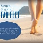 Three Simple Steps to Fab Feet  Young Living Independent Member number #1163402 #myYLlife #whyYL http://www.jennifersouthern.vibrantscents.com/