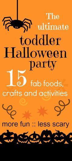 Fabulous toddler halloween party ideas :: halloween party games :: halloween activities for kids