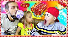 BUBBLE GUM CHALLENGE BATTLE  ЖВАЧКА Chupa Chups Big Babol Strawberry + D...
