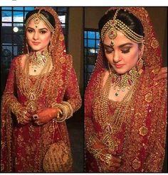 """Beautiful bride in Pakistani Bridal Couture, Pakistani Bridal Dresses, Indian Bridal, Bridal Gowns, Beautiful Pakistani Dresses, Asian Bride, Bridal Beauty, Bridal Makeup, Bridal Outfits"