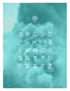 Typographie by Andréanne Teasdale, via Behance, love the colour of the cloud to