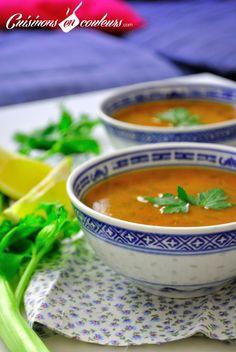 Harira, THE moroccan soup ! Plats Ramadan, Morrocan Food, Moroccan Soup, Ramadan Recipes, Lebanese Recipes, Arabic Food, Iftar, Curry, Food And Drink