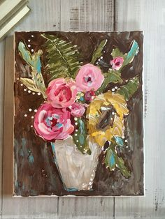 Learn to paint with a palette knife and create beautiful art like this! #paletteknife #artlessons #painting