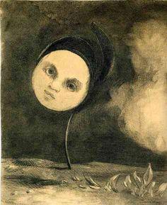 Odilon Redon, Head on a Stem on ArtStack #odilon-redon #art