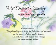 With Deepest Sympathy  Deepest Sympathy Messages Deepest
