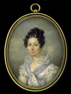 Jean Baptiste Singry    Lady in White Dress with Light Blue Shawl    circa 1820 thank you miss Lyze! this is a gem!!