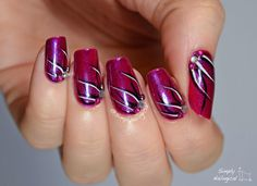 Purple magic simple looping effect by simplynailogical - Easy nail art using Quo by Orly striping polishes
