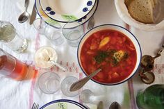 Airy semolina dumplings bob in the fragrant, paprika- and caraway-spiced broth of this warming chicken soup, along with tender chunks of carrot, parsnip, and celery. See the recipe Best Dumplings, Dumpling Recipe, Beef Recipes, Baking Recipes, Soup Recipes, Easy Recipes, Veal Stew, Romanian Food, Romanian Recipes