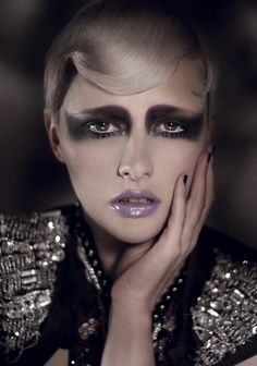 Avant Garde #makeup love the strong eye and the purple lips