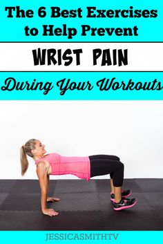 Don't let wrist issues keep you from getting results! Try these strength and flexibility exercises to help prevent pain during your workouts. Wellness Fitness, Health And Fitness Tips, Running Workouts, At Home Workouts, Wrist Pain, Stark Sein, Flexibility Exercises, Exercise For Kids, Get In Shape