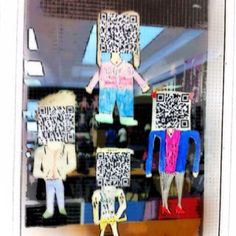Qr code kids. Each child's head works to link to their own site. A digital portfolio and blog
