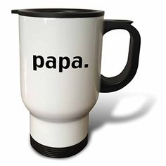YuieKim Papa FatherS Day Dad Stainless Steel 14oz Travel Mug Coffee Mug -- You can find more details by visiting the image link. (This is an affiliate link) #TravelMugs
